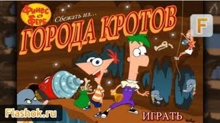 Видеообзор Phineas and Ferb - Escape from the City Moles