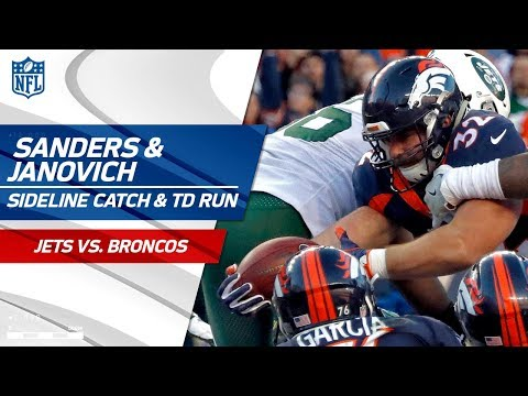 Video: Emmanuel Sanders' Sideline Catch Sets Up Andy Janovich's TD Run! | Jets vs. Broncos | NFL Wk 14