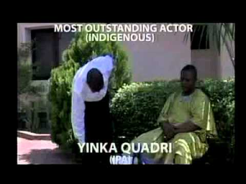 Most Outstanding Actor Indigenous   Ayo Akinwale  Iranse Aje