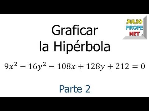Ecuacion y Grafica de una Hiperbola (Parte 2 de 2)