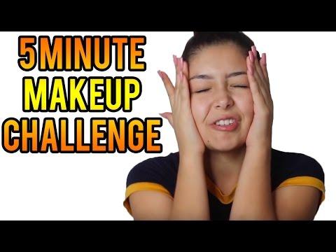 تحدي لوضع ماكياج احترافي في 5 دقائق شاهد النتيجة