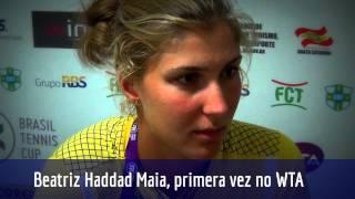 Beatriz Haddad Maia estreia em chave principal de WTA no Brasil Tennis Cup