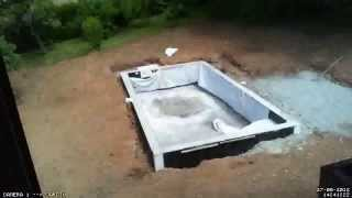 Construction piscine : Jour 7 ( Timelapse)