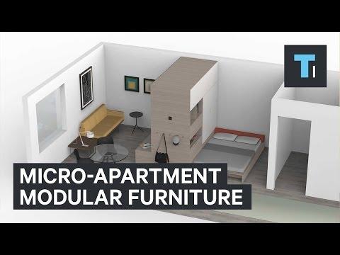 Микро-квартира модульная мебель