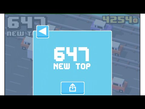 Crossy Road 647 High Score - Record Gameplay (iphone, Ipad, Android)