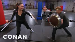 Download Video Conan Works Out With Wonder Woman Gal Gadot  - CONAN on TBS MP3 3GP MP4