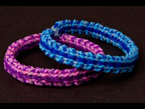 How to Make a Rainbow Loom Speckled Stripe Bracelet – Advanced