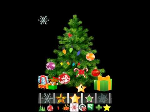 Video of Christmas tree decoration