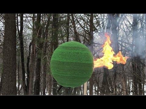 Skleił wielką kulę z 42 tys. zapałek! Podpalenie jej dało zaj*bisty efekt!