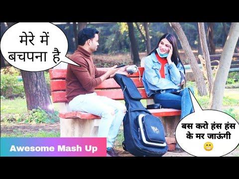Totla (तोतला) Singing Awesome Songs & Picking Up Girl Reaction Prank - 3 | Siddharth Shankar