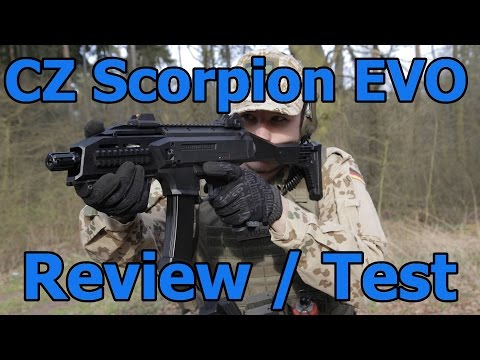 CZ Scorpion EVO ASG Airsoft Review & Test  GSPAirsoft german / deutsch