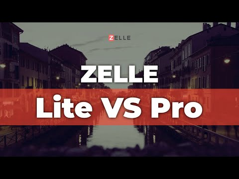 Zelle Lite Vs PRO: Extra Features To Make Your Website AWESOME