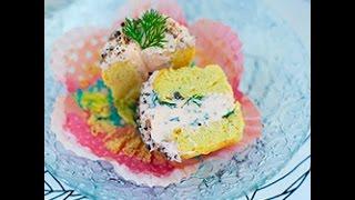 Muffin salati con mousse al salmone