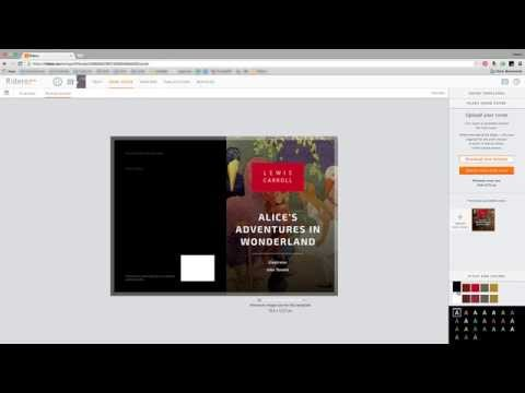 How to upload a readу made book cover?