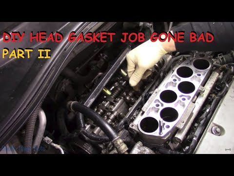Honda DIY Head Gasket - Vehicle Will Not Start Now - Part II (видео)