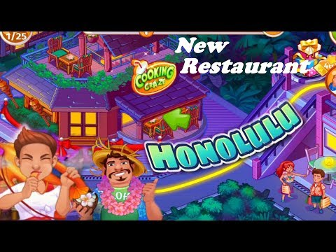 Cooking Craze/Honolulu- New Restaurant/Why My Plates Are Disappearing?/levels 34, 35,37, 40, 41, 42