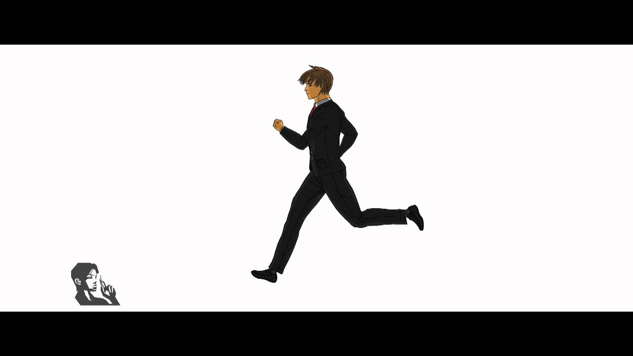 2d Man Run Cycle animation
