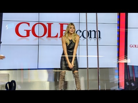 Kelly Rohrbach Shows Off Her Golf Swing