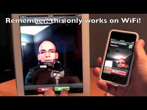 facetime - This is a quick demo of how to setup and use FaceTime on the iPad 2.