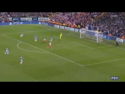 Radamel Falcao Second Goal   Manchester City vs Monaco 2 3    UEFA Champions League 22 02 2017
