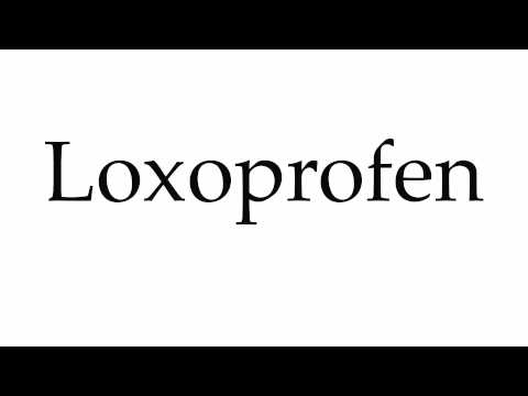 How to Pronounce Loxoprofen