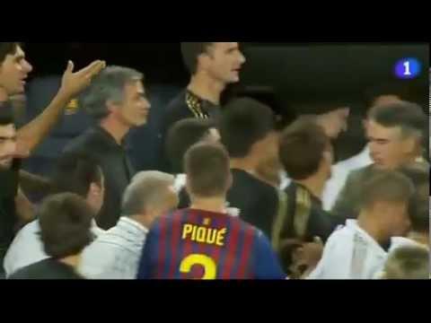 Completo! Mourinho Vs Vilanova (finger in eye)   BARCELONA 3   REAL MADRID 2   YouTube (видео)