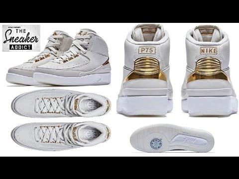 Air Jordan 2 Quai 54 White Gold Sneaker