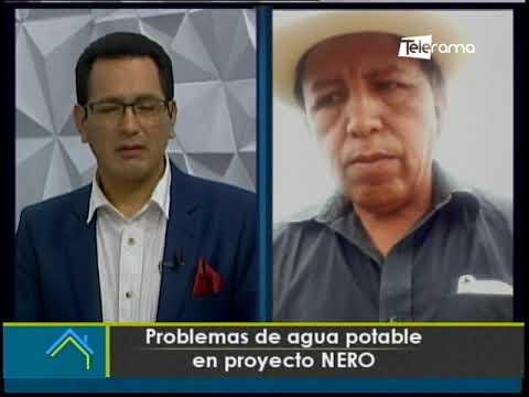 Problemas de agua potable en proyecto NERO