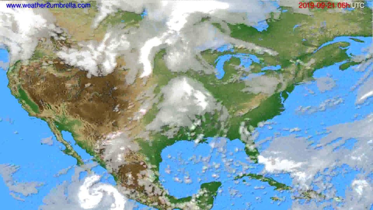 Cloud forecast USA & Canada // modelrun: 12h UTC 2019-09-18