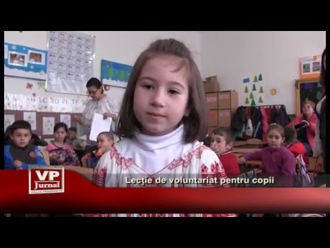 Lecție de voluntariat pentru copii