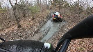 7. Kawasaki Mule XC in the ditch!!! Gypsum City OHV Park, Phase 2. Trail 222. 11/3/19