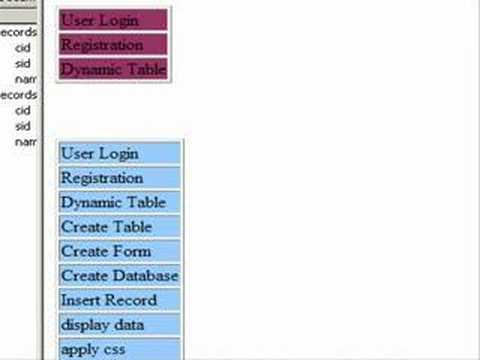 Create Nested Categories Using PHP And Dreamweaver