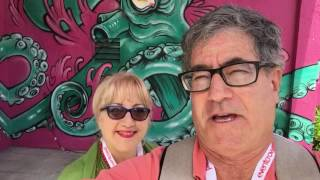 Lori and Randall at Social Media Week Miami 2016 for TravelfoodiesTV and AmbassadorsVIP. The event t