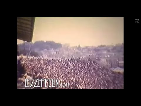 Rare 8mm footage of Led Zeppelin performing at Kezar Stadium in San Francisco, 1973.