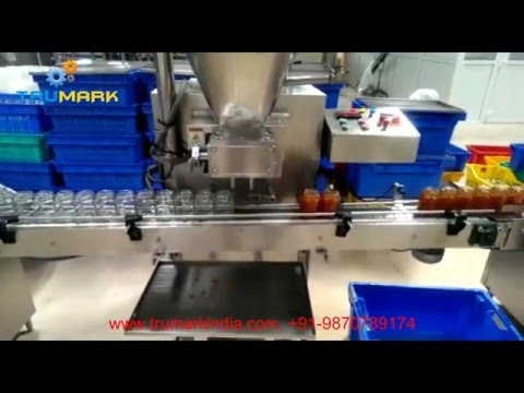 Automatic honey filling machne with twist off capper