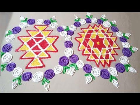 Video Diwali Rangoli For Laxmi Pooja - Kuber Kolam and Aishwarya Kolam / latest Diwali Rangoli #2 download in MP3, 3GP, MP4, WEBM, AVI, FLV January 2017