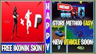 *NEW* Fortnite Update: IKONIK SKIN FREE EASY STORE METHOD,