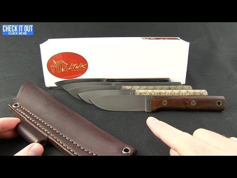 "LT Wright Knives Maverick Scout Fixed Blade Knife Desert Ironwood (3.75"" Satin)"