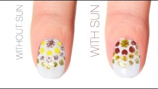 Radial Dotticure Color-Changing Nail Art Design