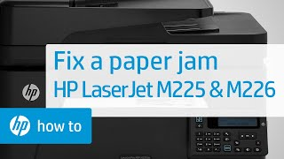 Paper Jam Error Message Displays on the Control Panel - HP LaserJet Pro MFP M225 and M226