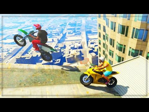 Gta - GTA 5 Funny Moments - Skyscraper Parkour Stunts! (GTA V Online Funny Moments Gameplay) GTA 5 Stunts Games Are Here! ENTER MY SUBSCRIBER GIVEAWAY HERE: http://bit.ly/SharkCardGiveaway ▻ Follow...