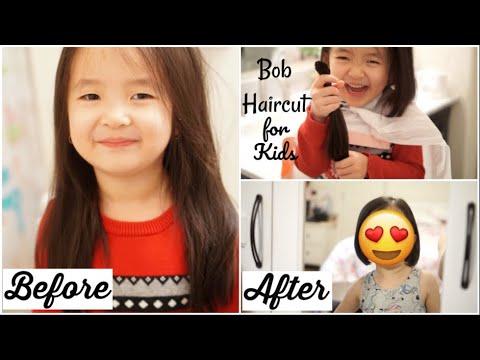 Nhật Ký Làm Mẹ: Lần Đầu Cắt Tóc Bob Cho Con Gái ♥ Bob haircut for toddler girl | mattalehang - Thời lượng: 7 phút, 19 giây.