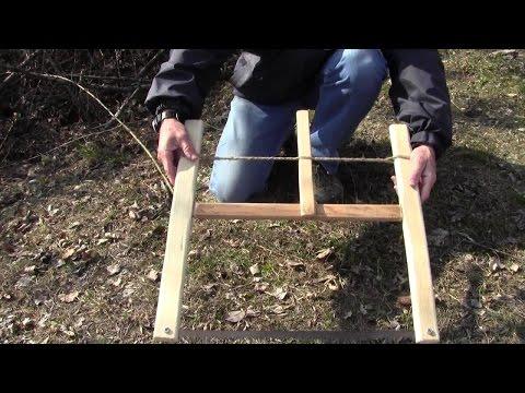 Sega a telaio smontabile (folding bucksaw):  realizzazione e prova sul campo