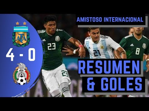 RESUMEN EXTENDIDO Y GOLES  | 🇦🇷 ARGENTINA 4 - 0 MEXICO 🇲🇽 | AMISTOSO INTERNACIONAL