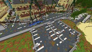 Minecraft: Apocalyptic City Let's Build #4 | Parking lot near the beach