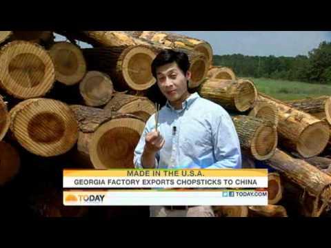 USA selling chopsticks to China, booyah