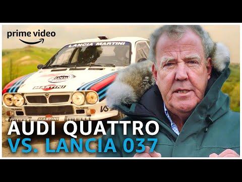 Clarkson z'n Favoriete Rally Battle: 1983 Audi Quattro VS. Lancia 037 | Amazon Prime Video NL