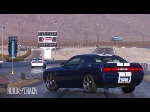 تحدي دودج تشالنجر و فورد موستانج شيلبي - Dodge Challenger SRT8 392 vs. Shelby GT350