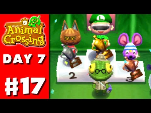 nintendo - Thanks for every Like and Favorite! They really help! This is Part 17 of the Animal Crossing: New Leaf Gameplay Walkthrough for the Nintendo 3DS! On Day 7, t...