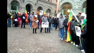 Ethiopians In Stockholm Demonstrated Against Ethnic Cleansing In Ethiopia